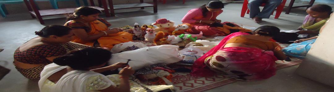 Production of handmade Softtoys in the premises of Khilpara Mahila Consumers Cooperative Ltd, Under Gomati District, Tripura.